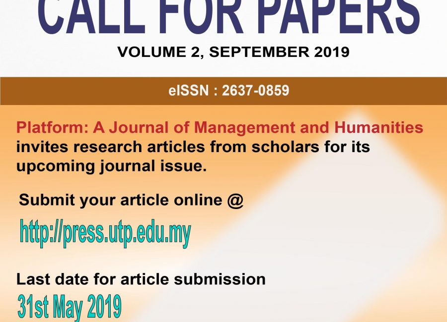 Call for Papers – Platform: A Journal of Management and Humanities
